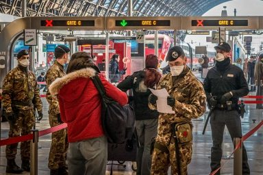 Italy, police, army, COVID-19