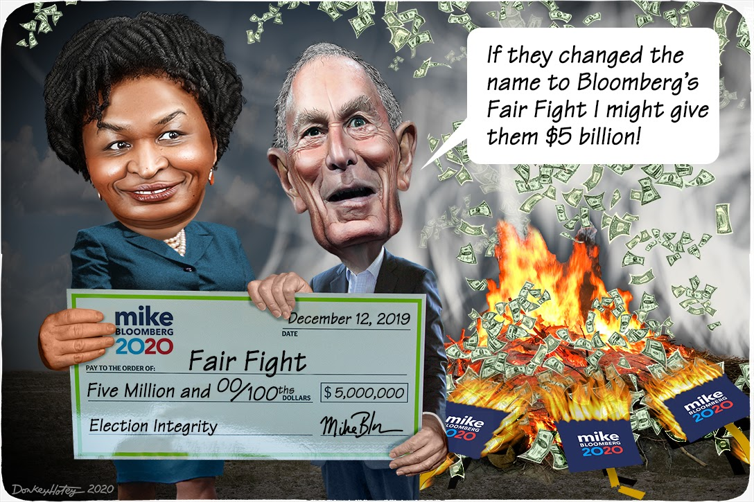 Stacey Abrams, Mike Bloomberg