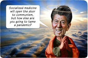 Ronald Reagan Socialized Medicine Cartoon