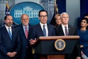 Treasury Steven Mnuchin, White House, Coronavirus Taskforce