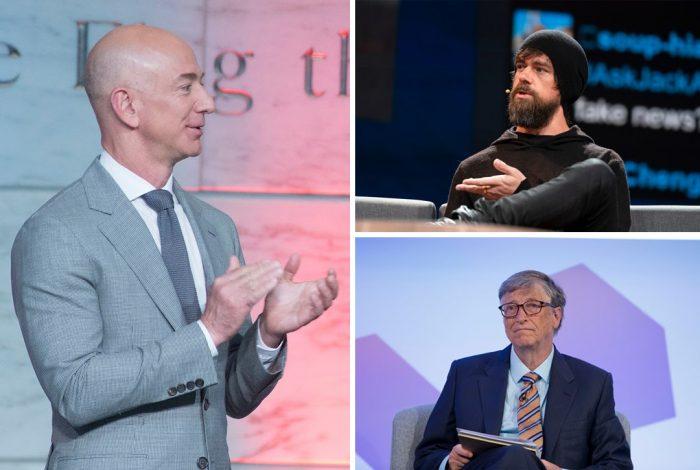 Jeff Bezos, Jack Dorsey, Bill Gates