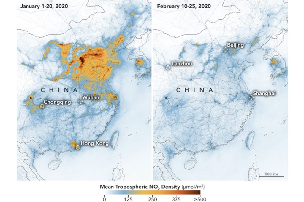 China, coronavirus, air pollution