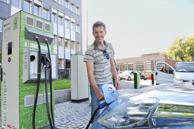 Nissan Leaf, charging station, Norway