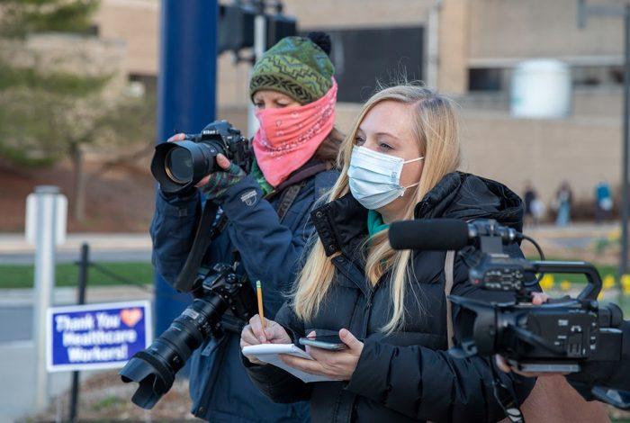 reporter, photographer, coronavirus pandemic