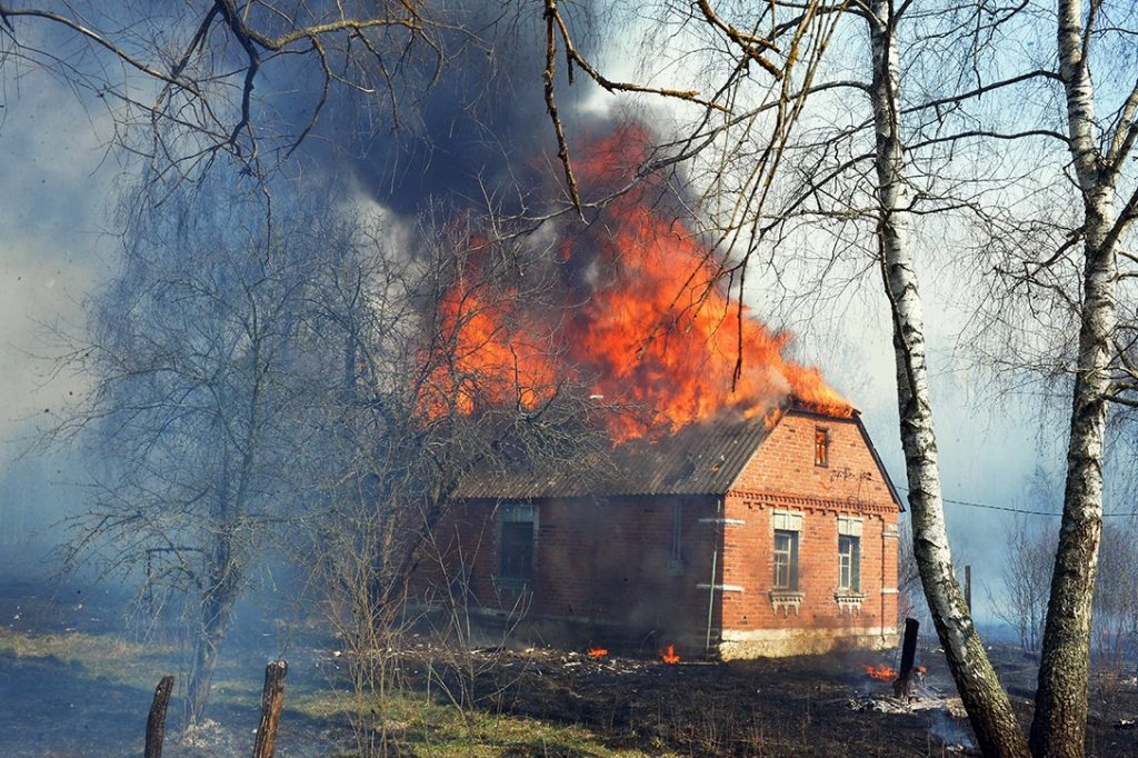 Chernobyl Exclusion Zone, House Fire