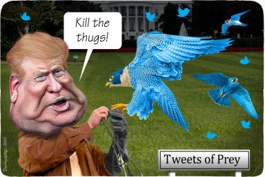 Donald Trump, tweets of prey