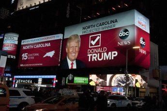 Donald Trump wins, Times Square