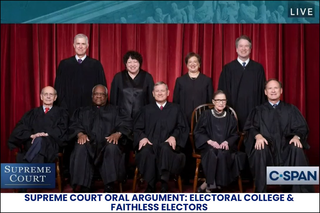 Supreme Court, Chiafalo v Washington Oral Argument, C-SPAN