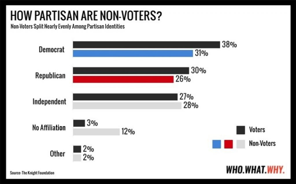 How partisan are non-voters