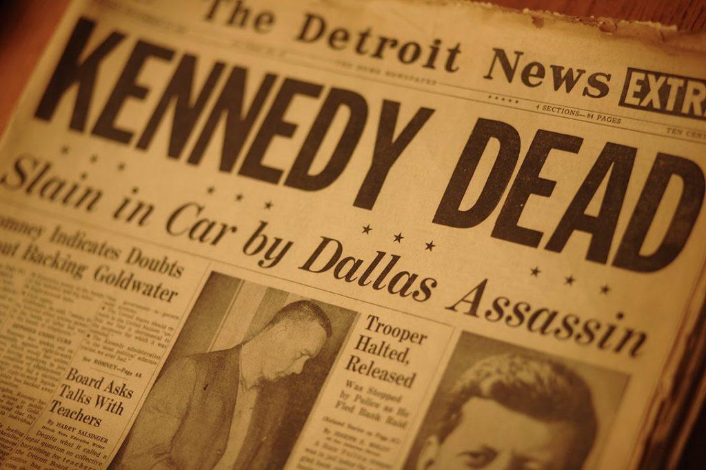 Detroit News, John F Kennedy, assassination