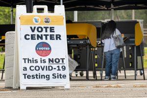 pop-up voting center, Santa Clarita, CA
