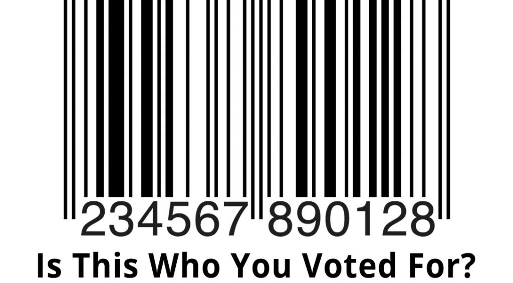 Is this who you voted for, barcode