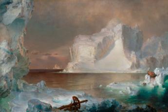 climate crisis, icebergs, art history