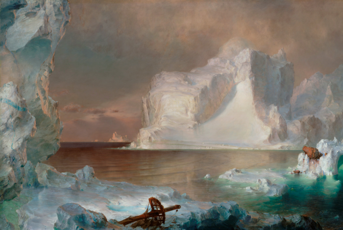 climate crisis, icebergs, art history