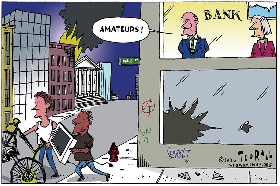 Ted Rall, cartoon