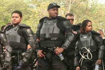 black, police