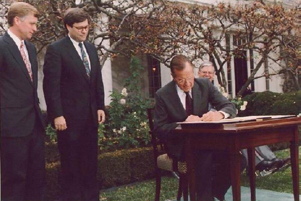 George H. W. Bush, William Barr, Dan Quayle
