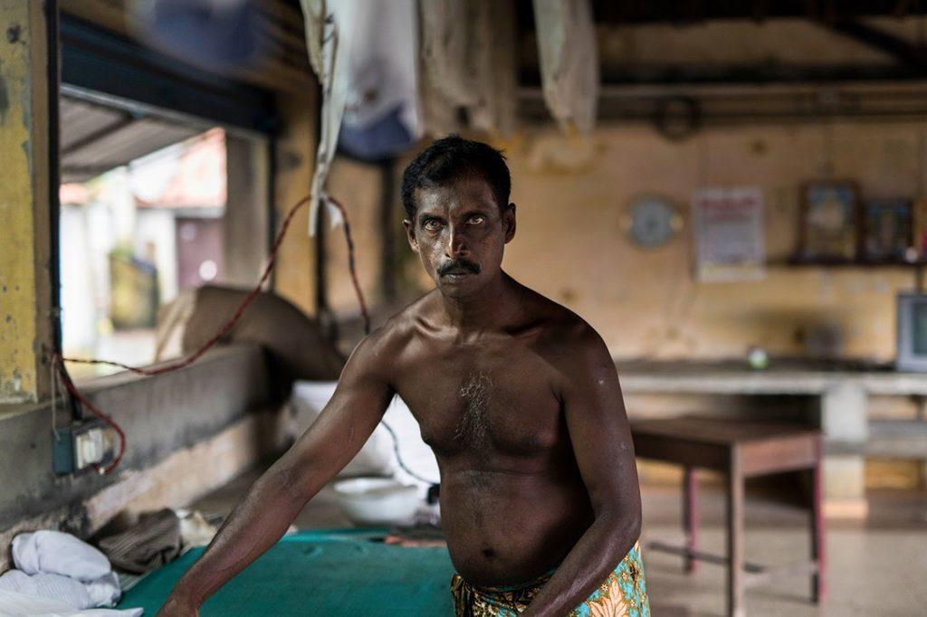 Laundry, worker, Mattancherry, Kerala, India.