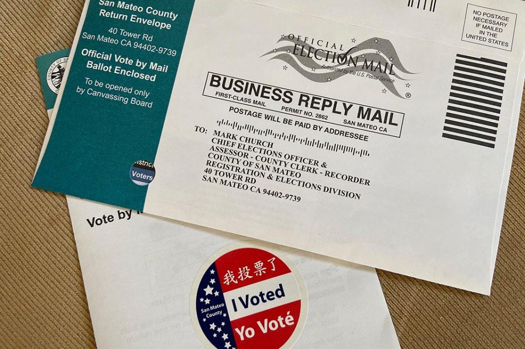 San Mateo, vote-by-mail, ballot envelope