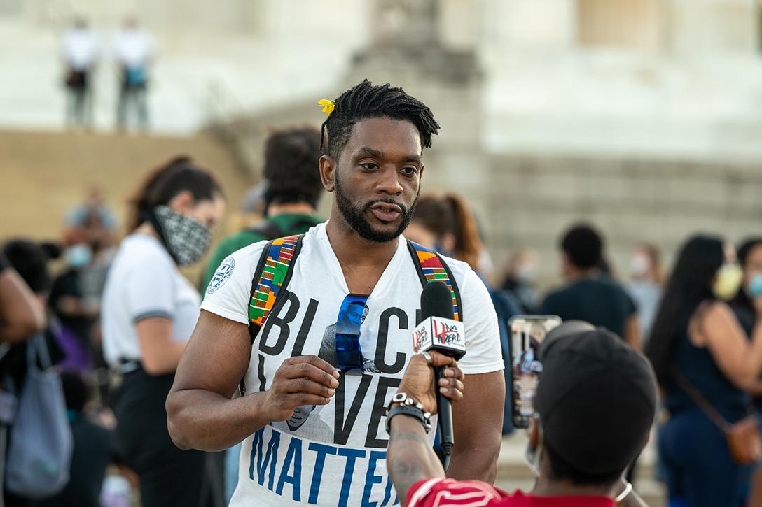 Vigil, George Floyd, Lincoln Memorial