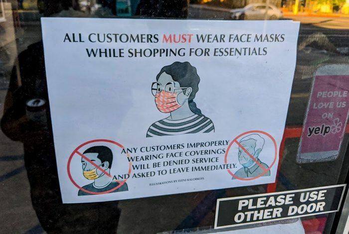 stores, masks