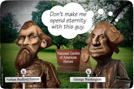National Garden of American Heroes, Nathan Bedford Forrest, George Washington