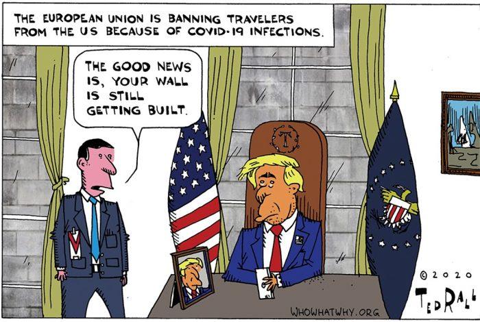 Ted Rall, Donald Trump, EU, wall