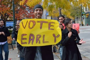 early voting, sign