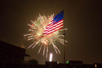 Flag, Fireworks