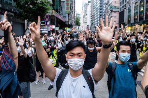 Hong Kong, July 1, protest