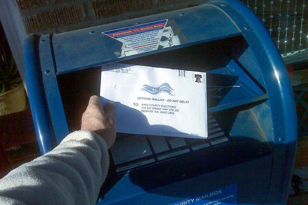 mail, ballot