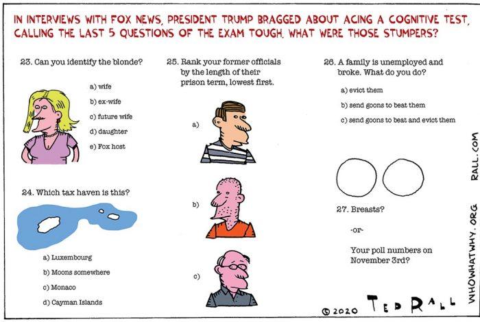 Donald Trump, cognitive test