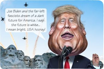 Donald Trump, Mt Rushmore