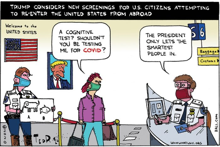 COVID-19, Cognitive Tests, Donald Trump