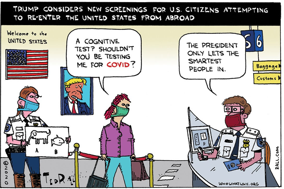 COVID-19, Cognitive Tests, Donald Trump