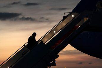 Donald Trump, leaving