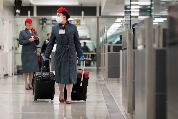 flight attendants, Dulles Airport