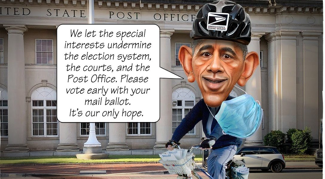 US Post Office, Barack Obama, vote-by-mail