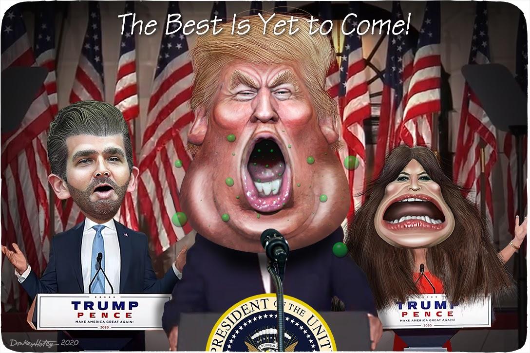 Donald Trump, Donald Trump Jr, Kimberly Guilfoyle