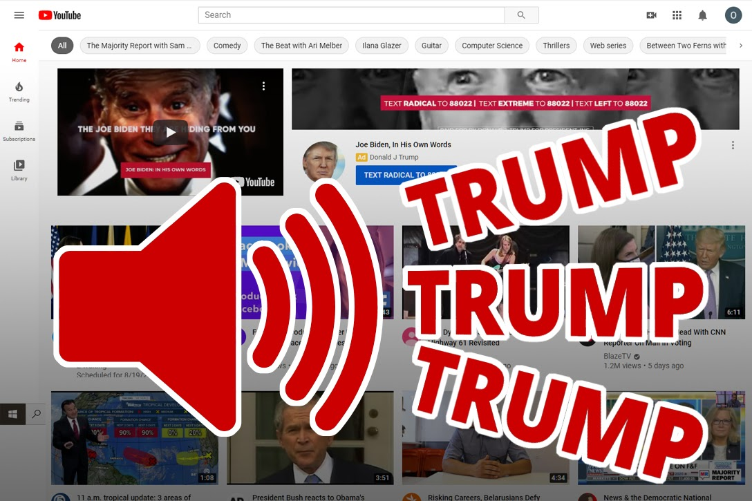 Donald Trump, YouTube ad
