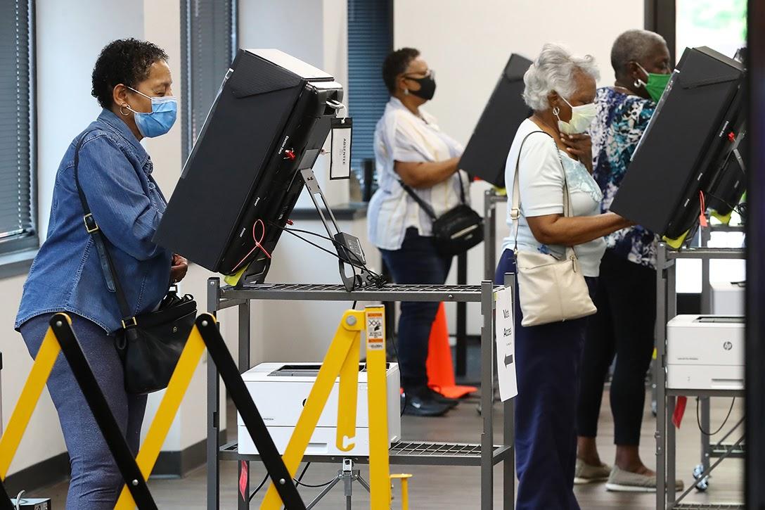 COVID-19, voting, Marietta, Georgia