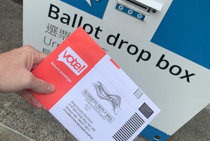 mail-in ballot, ballot, drop off