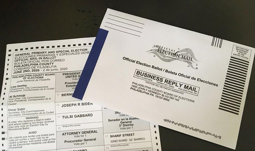 mail-in ballot, Philadelphia