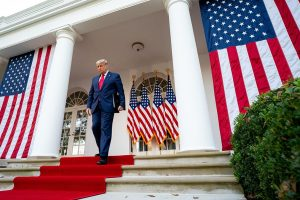 Donald Trump, Rose Garden