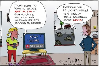 Donald Trump, Martial Law, COVID-19
