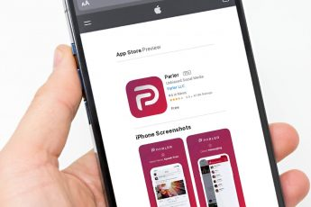 Preview of the Parler App on the Apple Store Website