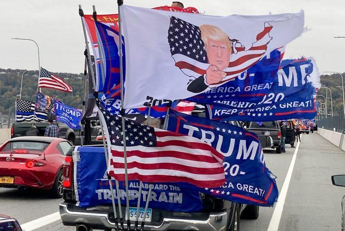 Trump, caravan, New York