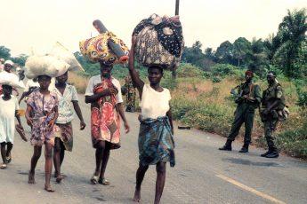civilians, Liberian civil war