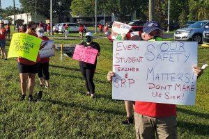 Land O'Lakes, school protest