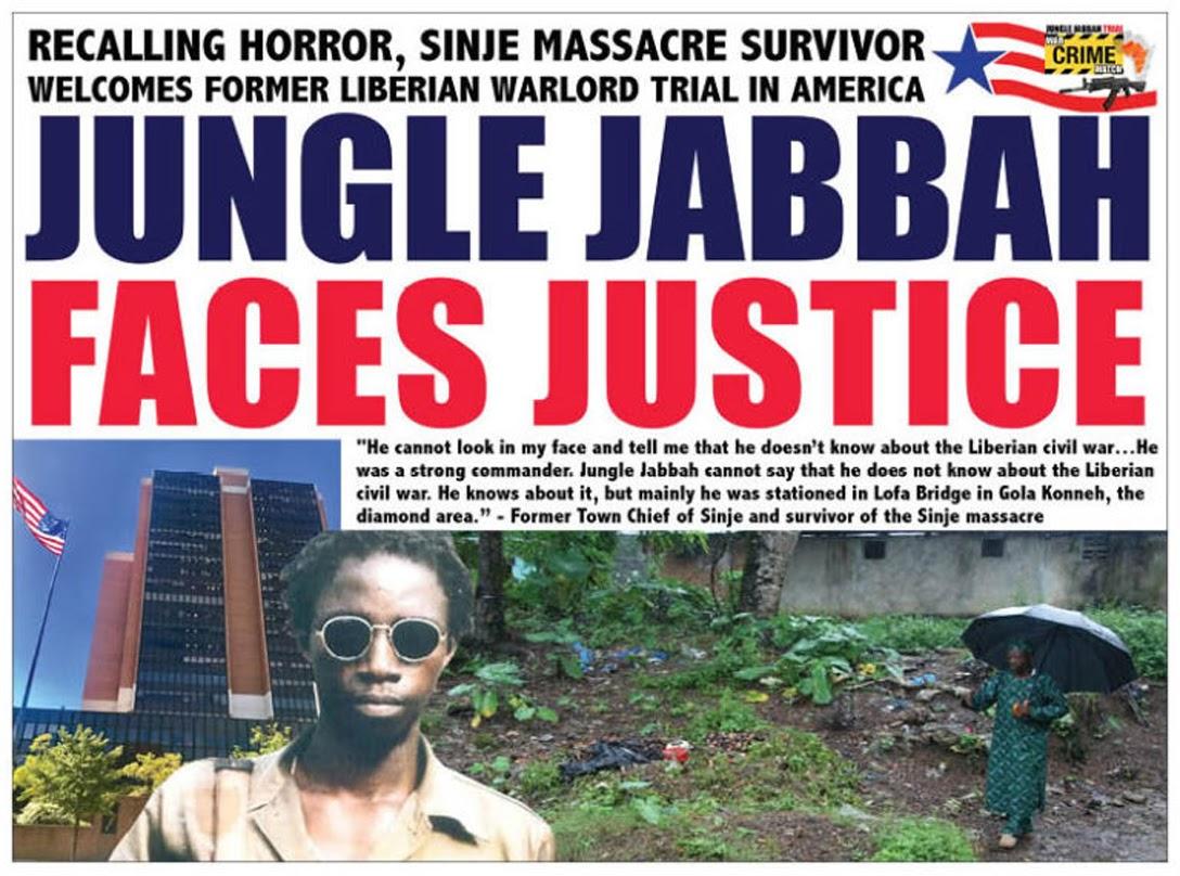 Liberian newspaper announces Jungla Jabbah's court case